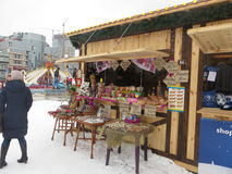 Kiev, negozio di ricordo Fotografie Stock
