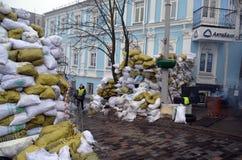 Kiev nell'ambito dell'occupazione dei contadini cattolici dall'Ucraina occidentale Immagine Stock Libera da Diritti
