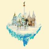 Kiev nevado ilustração royalty free