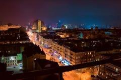Kiev at night. Cityscape Stock Photos