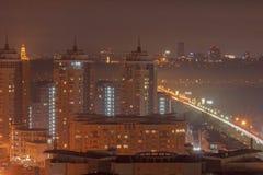 Kiev at night Stock Photography