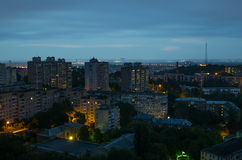 Kiev at night 2. Night view in Kiev Ukraine Stock Photos