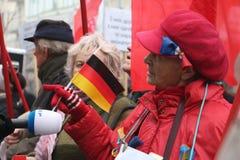 KIEV - 8 NOVEMBRE : Protestation d'Ukrainiens au-dessus d'affaire d'UE images stock