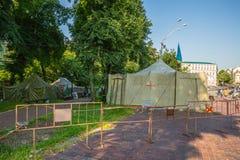 KIEV, 24 OEKRAÏNE-JULI: Maidan Nezaleznosti 24, 2014 in Kiev, U Stock Afbeeldingen