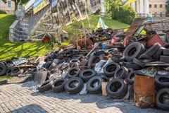 KIEV, 24 OEKRAÏNE-JULI: Maidan Nezaleznosti 24, 2014 in Kiev, U Stock Afbeelding