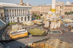 KIEV, 24 OEKRAÏNE-JULI: Maidan Nezaleznosti 24, 2014 in Kiev, U Royalty-vrije Stock Afbeelding