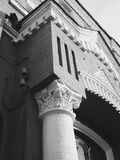 Kiev old architecture black and white colors Royalty Free Stock Photo