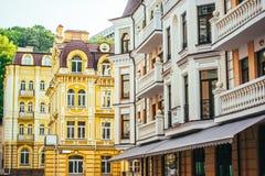 Kiev. Old town, Vozdvizhenska and Honcharna street in Kiev, Ukraine Stock Photography