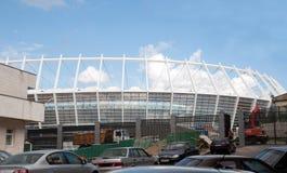 Kiev, Olympisch stadion tijdens bouw Stock Foto