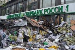 Kiev onder beroep van katholieke boeren van de Westelijke Oekraïne Stock Fotografie