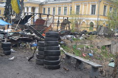 Kiev onder beroep van katholieke boeren van de Westelijke Oekraïne Stock Afbeelding