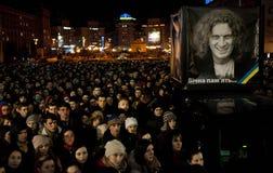 Kiev onora il cantante ucraino Fotografia Stock