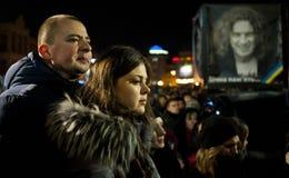 Kiev onora il cantante ucraino Immagini Stock Libere da Diritti