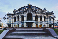 Kiev Opera Front Royalty Free Stock Image