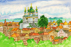Kiev, painting Royalty Free Stock Photography