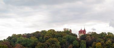 Kiev panoram Fotografering för Bildbyråer