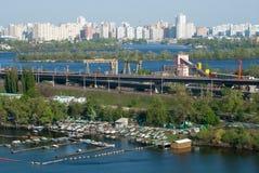 kiev panorama Arkivfoto