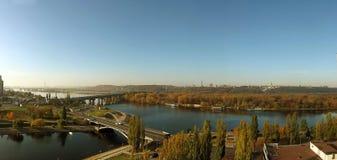 Kiev panorama. From bird's eye with dnepr river Stock Photo