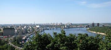 Kiev panorama Royaltyfria Bilder