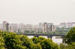 kiev panorama Arkivfoton