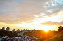kiev panorama Royaltyfri Fotografi