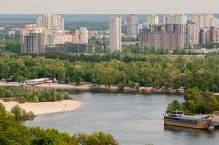 kiev panorama Arkivbild