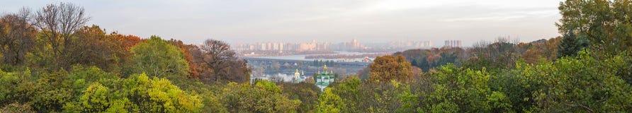 Kiev panorama. Kiev city at autumn panorama , Ukraine Royalty Free Stock Image