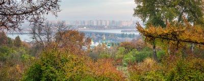 Kiev panorama. Kiev city at autumn panorama, Ukraine Stock Images