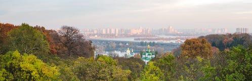 Kiev panorama. Kiev city at autumn panorama, Ukraine Royalty Free Stock Photo