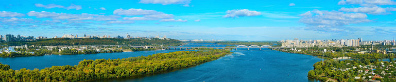 Kiev panorama overview, Ukraine Royalty Free Stock Photos