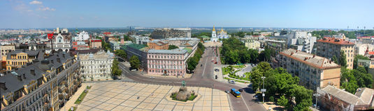 kiev panoramasikt royaltyfria foton