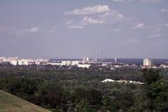 Kiev panoramic city view morning Royalty Free Stock Image