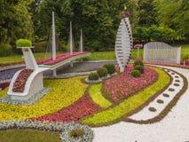 KIEV, parc de paysage d'exposition d'Ukraine-fleur à Kiev Composition Ob Photo libre de droits