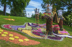 KIEV, parc de paysage d'exposition d'Ukraine-fleur à Kiev Le compositio Photos libres de droits