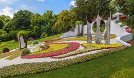 KIEV, parc de paysage d'exposition d'Ukraine-fleur à Kiev Le compositio Image libre de droits