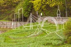 KIEV, parc de paysage d'exposition d'Ukraine-fleur à Kiev photos libres de droits