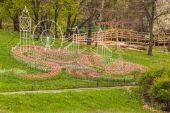 KIEV, parc de paysage d'exposition d'Ukraine-fleur à Kiev photos stock