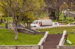 KIEV, parc de paysage d'exposition d'Ukraine-fleur à Kiev images libres de droits