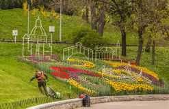 KIEV, parc de paysage d'exposition d'Ukraine-fleur à Kiev photo libre de droits