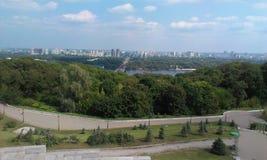 Kiev, parco di gloria! Belle viste della città fotografie stock libere da diritti