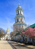 Kiev pechersk cathedral belltower Royalty Free Stock Image