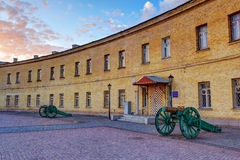 Kiev Pechersk Fortress. Also known as oblique caponier - an ancient historic place in Kiev. Also known as territory of a military hospital Royalty Free Stock Photography