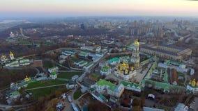 Kiev Pechersk Lavra, é um monastério cristão ortodoxo histórico em Kiev ucrânia filme