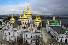 Kiev-Pechersk Lavra alla molla Fotografia Stock Libera da Diritti