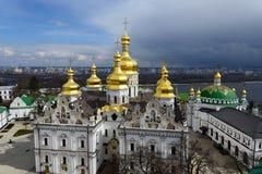 Kiev-Pechersk Lavra alla molla Fotografia Stock