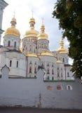 Kiev-Pechersk Lavra, arrière de cathédrale de Dormition Photos stock