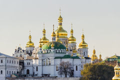 Kiev-Pechersk Lavra autumn evening Stock Photos