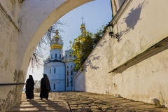 Kiev-Pechersk Lavra in autumn Stock Photo