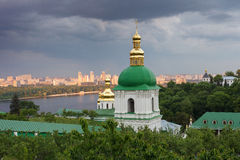 Kiev-Pechersk Lavra. The bell tower of the lower caves Royalty Free Stock Image