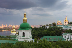Kiev-Pechersk Lavra. The bell tower of the lower caves Royalty Free Stock Photography